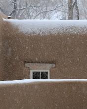 Photo: Santa Fe scene in snow  4/17/09