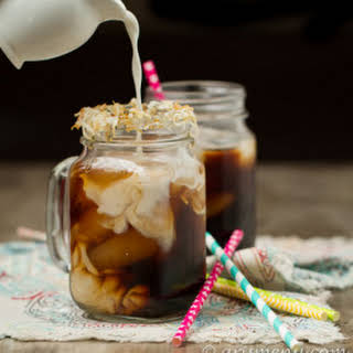 Toasted Coconut Cold-brewed Iced Coffee.