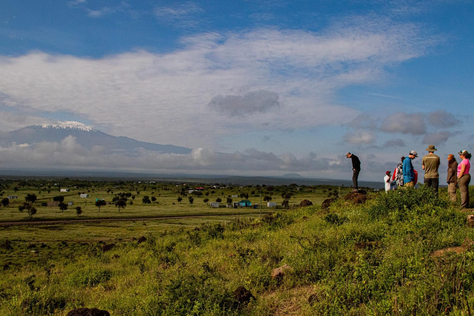 Morning lecture with a view of Kili - photo by Ryan Frederick Wiramidjaja