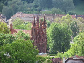 Photo: St Anne's from Gediminas Hill