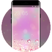 Abstract theme pink crystal business wallpaper APK