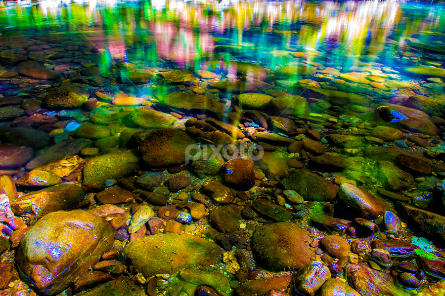 Colored stones in river Curak  by Stanislav Horacek - Landscapes Waterscapes