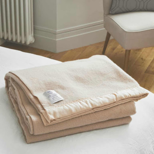 John Atkinson North Star Wool Blanket Champagne
