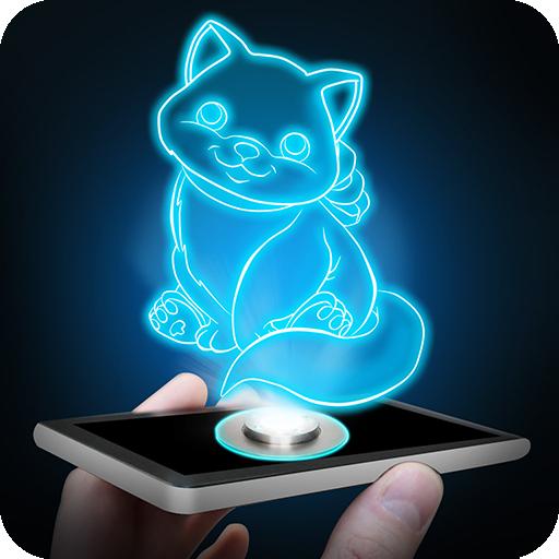 全息猫小猫3D恶作剧 模擬 LOGO-玩APPs