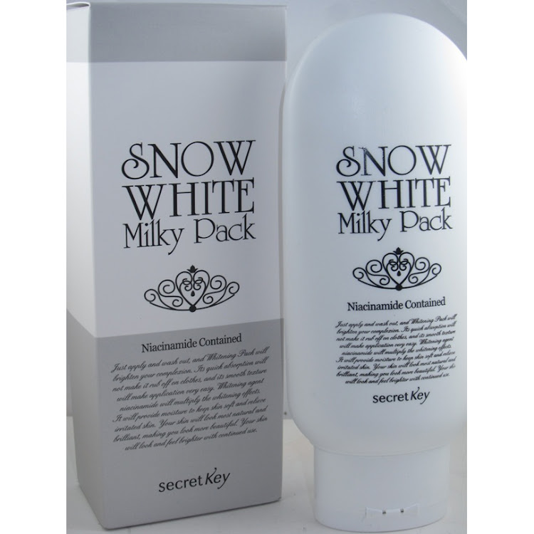 Snow white whitening milky pack 200ml by Supermodels Secrets