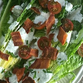 Romaine Wedge Salad with Green Goddess Dressing.