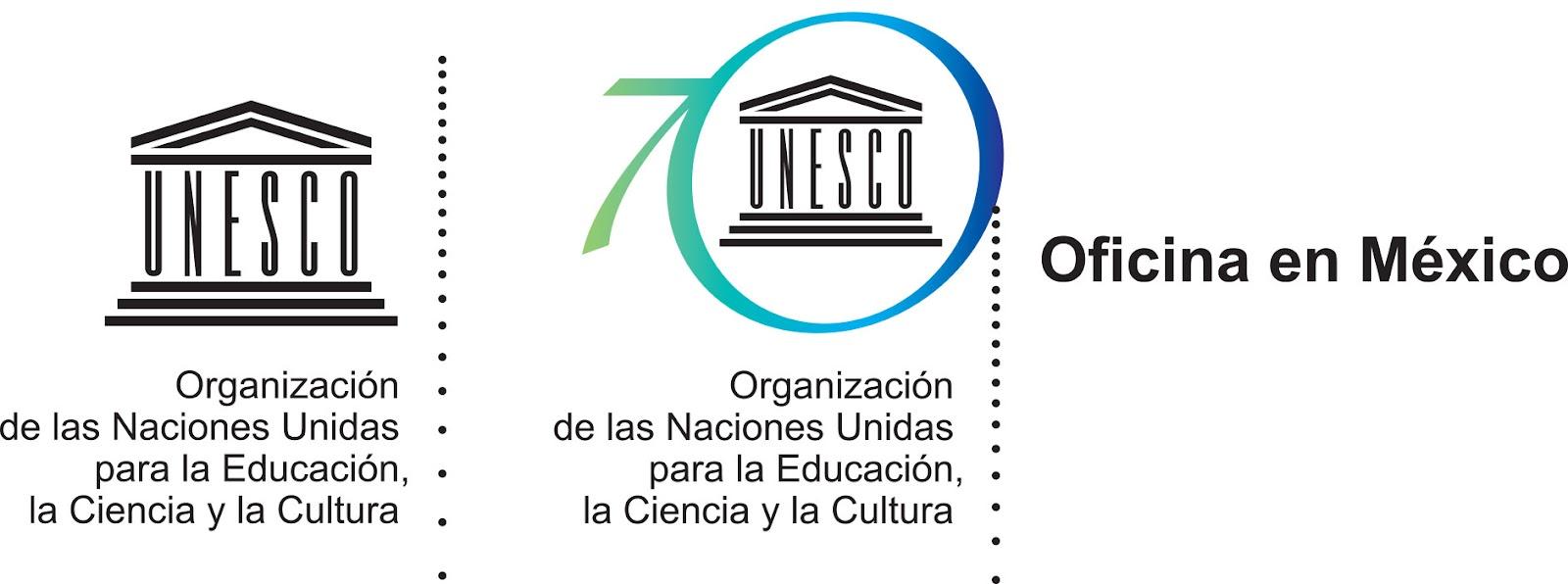 Logo Cultural UNESCO México 70 años