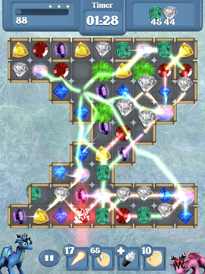 Frozen Dragon Gems - Match 3- screenshot
