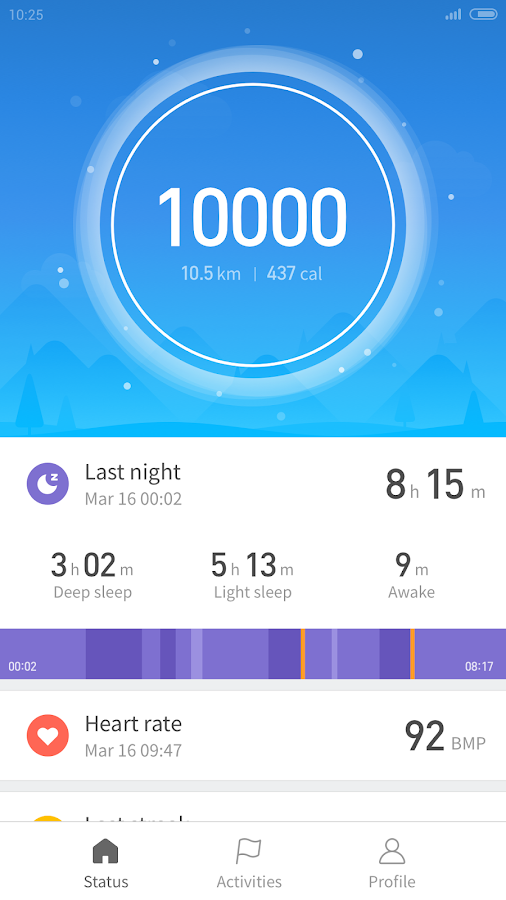 Mi Fit- screenshot
