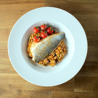 Mediterranean Risotto with Sea Bass.