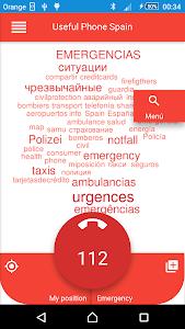 Emergency phone numbers Spain screenshot 0