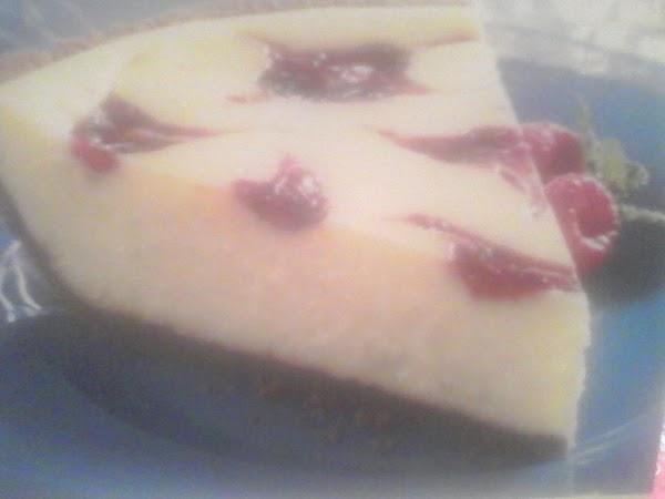 Traditional White Raspberry Swirl Cheesecake Recipe