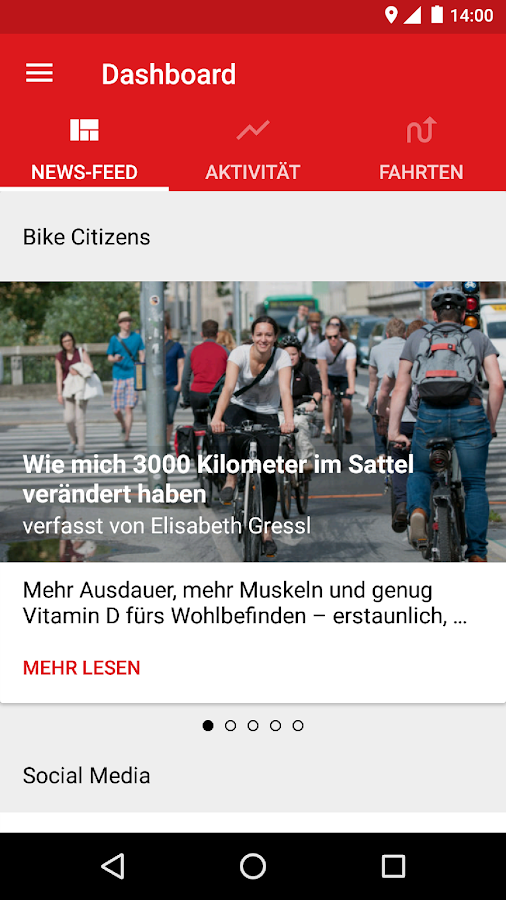 Bike Citizens Fahrrad Navi GPS – Screenshot