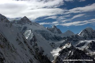 Photo: Kangbachen 7903 m et Jannu 7710 m puis Ramtang 6700m