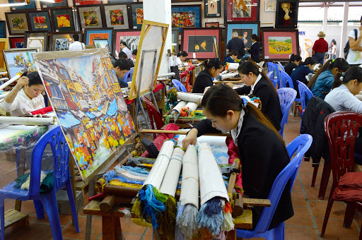vietnam-art-center.jpg - An art center working with disabled persons, many of whom were victims of napalm bombing by the US.