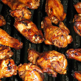 Marinated and Grilled Chicken Wings.