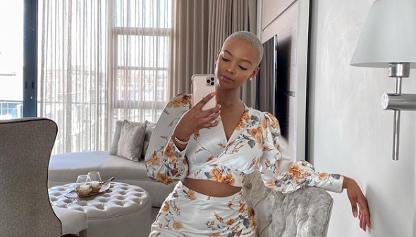 Influencer and make-up artist Mihlali Ndamase hit back at a comment that preferring to support black businesses was 'racist'.