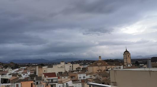 Las lluvias dejarán estos días hasta 100 litros en el Almanzora y Levante