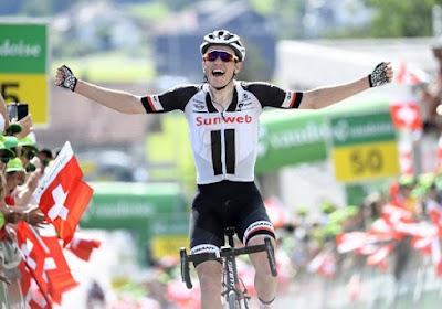 Amper 23-jarige Deen boekt in koninginnenrit Ronde van Zwitserland mooiste zege uit nog jonge carrière