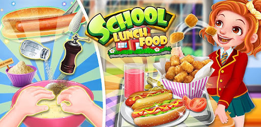 School Lunch Food - Hot Dog, Tator Tots & Juice for PC