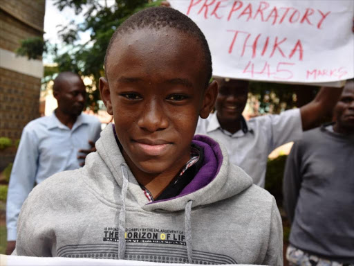 Thika boy outlives preterm birth to shine in KCPE with 445 marks
