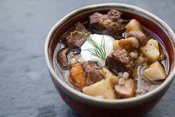 Delicious Beef And Barley Stew With Mushrooms Recipe