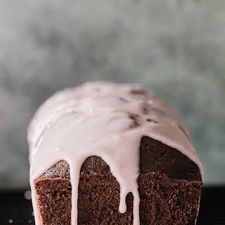 Chocolate Olive Oil Cake with Blood Orange Glaze.