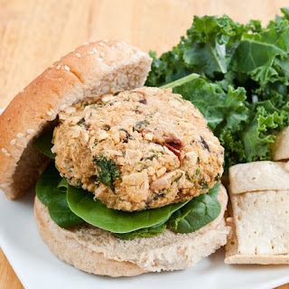 White Bean, Kale and Quinoa Burgers