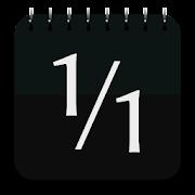 カレンダー&メモ Black - 縦型カレンダー & 月カレンダーウィジェット