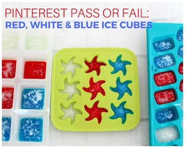 Pinterest Pass or Fail: Red, White & Blue Ice Cubes