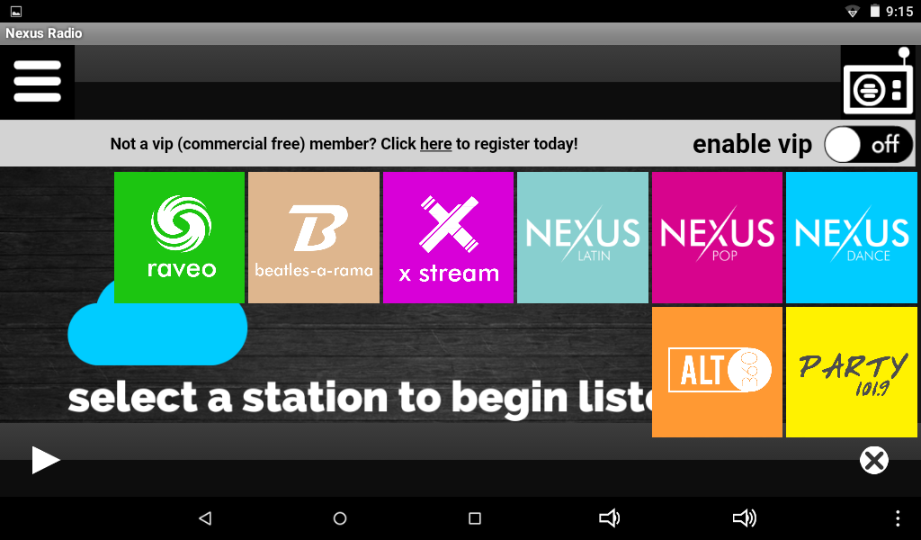 Nexus Radio- screenshot