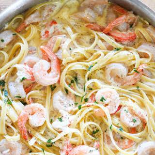 One-Pot Seafood Alfredo.