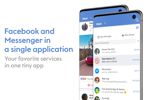 Maki: Facebook and Messenger in one awesome app screenshots 1