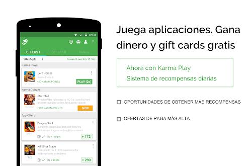 Recompensa appKarma y tarjetas Gratis