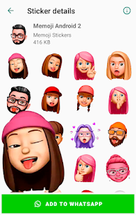 Memoji Stickers for Android WhatsApp WAStickerApps 2