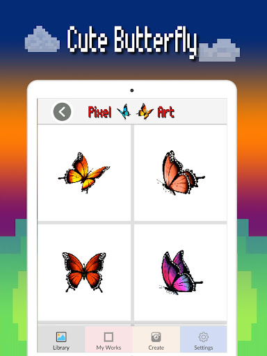 Butterfly color by number : Bugs coloring book apktram screenshots 7