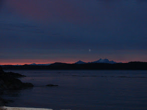 Photo: Evening twilight on Johnstone Strait.