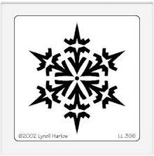 Dreamweaver Stencils LL - Gothic snowflake UTGÅENDE
