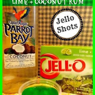 Lime & Coconut Rum Jello Shots.
