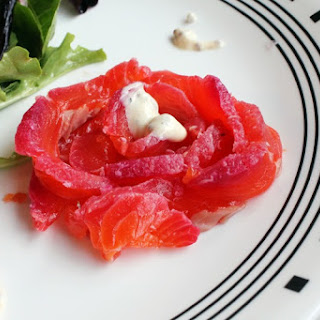 Gravlax (Cured Salmon) With Delicious Side Salad