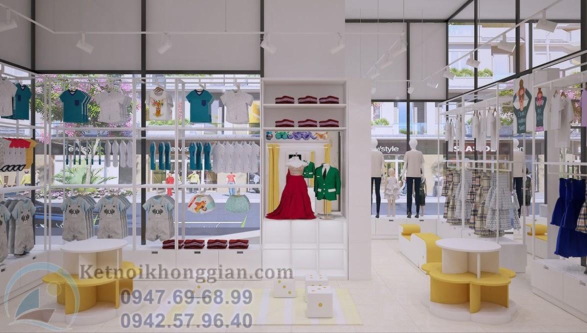 thiết kế shop thời trang mẹ và bé chất lượng