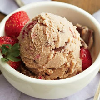 Milk Chocolate Strawberry Ice Cream.