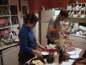 Photo: cooking with Nicos and Anastasia