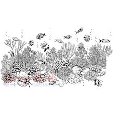 Deep Red Cling Stamp 4.1X2 - Coral Reef UTGÅENDE