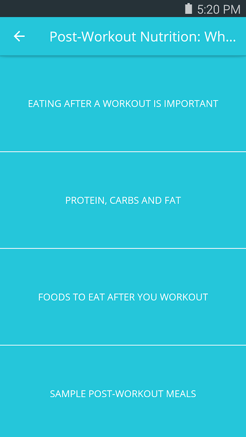 Ultimate Workout Nutrition- screenshot