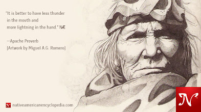 Photo: It is better to have less thunder in the mouth and more lightning in the hand. —Apache Proverb [Artwork by Miguel A.G. Romero]