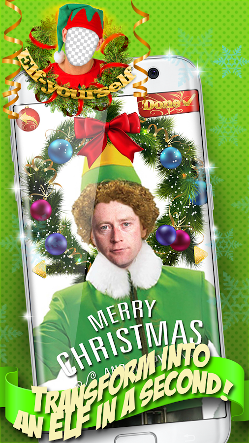 Elf yourself christmas editor android apps on google play