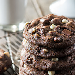Bakery Style Triple Chocolate Chip Cookies