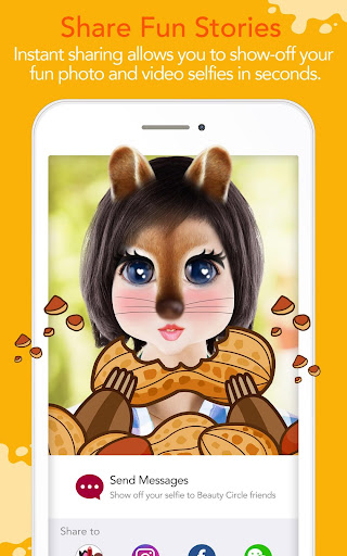 YouCam Fun - Snap Live Selfie Filters & Share Pics Screenshot