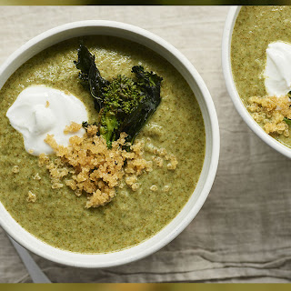 Creamy Broccoli Rabe Soup with Quinoa Recipe